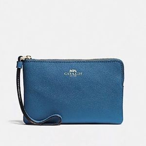 Coach Pebbled Leather Wristlet